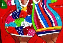 Vrolijke schilderijen / Dikke dames, vrolijke dieren en andere schetsen