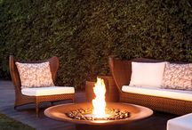 Outdoor Fireplaces Ideas / Delivering heat with no smoke, no spitting, no ash and no embers. Ideas of how to create a unique ambience for all outdoor settings.  https://ecosmartfire.com.au/ideas/outdoor-fireplaces/