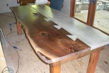 stoły drewno+beton