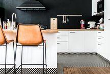 Carrelage cuisine et parquet