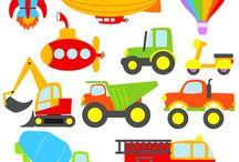autók, munkagépek