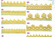 Crochet edging trim border