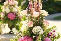 Bloemen / boeketten, bruidsboeketten, grafwerk, planten, opgevulde manden