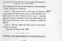 Women's Suffrage - Wyoming (mostly)