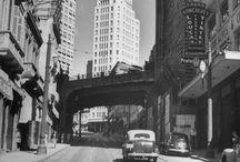 """Progressos passados / No passado as cidades pareciam mais limpas. Impressão nossa? Talvez. Parece que o preto e branco tambem ajuda a dar um visual """"clean"""", mas a verdade é que evoluimos e estagnamos."""