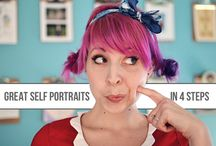 In the Dark Room ~ Selfies / Tips & tricks for taking selfies / by {Living Outside the Stacks}