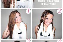 waffel crimp hair