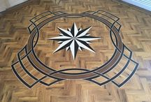 Custom unique designs / Custom designs, motifs and borders, cut on site by Total Flooring.