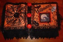 Halloween fabric book