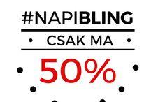 NapiBling / Mostantól minden nap vár egy meglepetés nálunk!  Naponta kiválasztunk egy ékszert, amit 50%-kal olcsóbban vehetsz meg! Figyeld a #napibling hashtag-et, hogy ne maradj le a Napi Blingről!