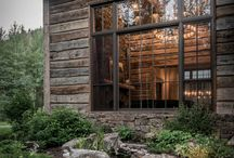 Wood rustic house traditional