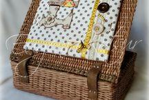 Плетение из газет. Шкатулки, коробки для рукоделия.