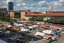University of Texas Longhorn Football Tailgate Party - Photo Image Gallery / Every Austinite knows, there's nothing quiet like some Texas BBQ, cold beer, and a UT football game at the tailgate party every Saturday during football season. Austin, is home to the largest tailgate party in Texas.