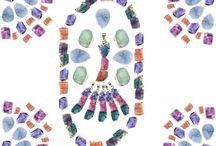 Dainty Druzy Stone Collection / Super sparkly, bezel set, druzy quartz gemstone hangs freely on pendants, neckalces and  rings . Would look great worn alone or layered with other necklaces for an on-trend look. Perfect for everyday wear! Druzy is the glittering effect of tiny crystals over top a colorful mineral. Stones will vary in size, color and characteristics because these are natural stones.