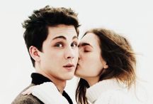 Lily Collins and Logan Lerman