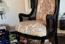 Wingback Cane Chair