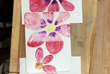 Liquid Watercolor printmaking by New Mexico art teachers! / Liquid Watercolor printmaking by New Mexico art teachers using Sargent Art products.