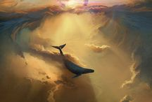 Flying Whales / I do not own any of these pictures. No copyright infringement intended. If you own anything and would like it to be credited or removed, please contact me.