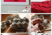 bricolage boîtes oeufs