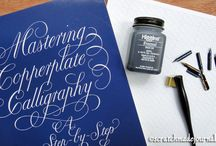 SJ: Art Supplies / Information on watercolor, lettering, and sketching supplies from Scratchmade Journal.