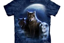 T-shirts animaux homme et enfant / Images et photo de tee-shirts imprimés avec des motifs sur le thème des animaux : lion, loup, tigres, rapace, etc.. Vêtement tee shirt pour homme et enfant