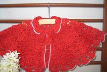 Shawl, poncho for kids giza cotton red