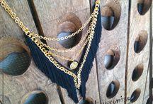 V & station necklaces