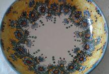 Ciotola / Insalatiera in ceramica dipinta a mano. Dec. Floris,20,00 € su misshobby.com