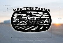 Country Life Signs / Laser cut metal signs for farm, ranch and wilderness properties.