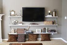 TVs & Shelve