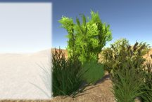Realistic Grass, Bush and Tree Package / This Pack contains LOD transitions and fully support Unity Wind Effects. Also many kinds of #trees , #bush , #grass assets which will enhance your game environment. #rakshigames