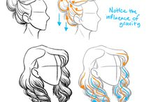 studying how to draw realistic hair for a human