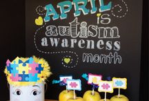 autism awareness / April is Autism Awareness month!  Persona Designs teamed up with the Purple Pug, Two Prince bakery Theater and PS. Make It Your Own to create Awareness and bring joy to the children of LifeSkills Academy of Orlando.  #Autism #awareness   ~ the photo shoot was inspired by the chalkboard pins on pinterest.  Light it up BLUE!