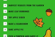 Autumn Fun / Things to do in the fall/autumn when the weather gets cooler.