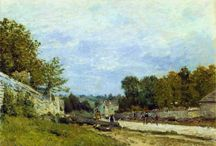 ALFRED SISLEY / Alfred Sisley 1839-1899 Impressionist landscape painter, born in Paris of expatriate English parents. Exhibited with the Impressionists in 1874, 1876, 1877 and 1882, and had his first one-man exhibition at La Vie Moderne, Paris, in 1883. Also worked in Britain in 1874 (around Hampton Court) and 1897 (near Cardiff). He received little recognition in his lifetime and from 1871, when his father was no longer able to support him, spent much of his life in poverty.
