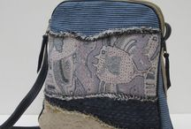 Handmade Bags / Collection of one of a kind, handcrafted bags, purses, handbags, clutches, and more! Lots of variety of fabrics like upholstery and leather and much more too