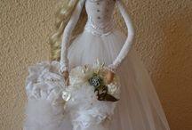 menyasszony vőlegény babák