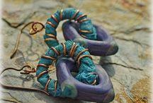 ~fabric - wire earrings~