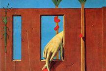 Max Ernst / (2 de abril de 1891, Brühl, Alemanha — 1 de abril de 1976, Paris) Pintor alemão, naturalizado norte-americano e depois francês. Também praticou a poesia entre os surrealistas, movimento do qual fez parte. Seu filho foi Jimmy Ernst. Era filho de Philipp Ernst, professor de artes e de Luise Kopp. Surrealismo, Arte moderna, Dadaísmo