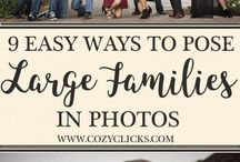 large family poses