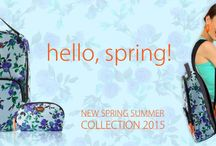 Spring Summer Collection 2015 / Our new edgy yet vibrant collection offers countless ways to add bold and unique prints including geometrical patterns, polka dots and abstract designs. The Backpack and Travel pouches in the collection are influenced by exotic destinations, it has Beachy colors- deep blues, rich turquoise, Violets and mints.