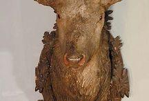 Wood Deer Head - Cabeça de Rena de Madeira