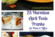April Fools / Get ready for tricks, pranks and all around fun!  April Fools!