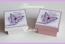 Cajitas Con Mariposas Personalizadas