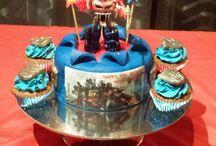 Rescue Bot bday cake