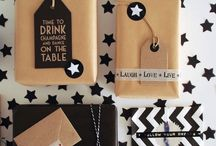 ZiZo Living | Verpakking / Leuke manieren om een cadeau te verpakken met o.a. kraftpapier, stickers & touw.