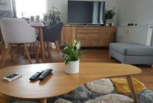 I live here / modern home and decorations in the flat