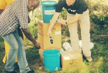 Water Filters / We are partnering with Sawyer, a company started in 1984 that manufactures point-of-use water filters with proven success in fighting water borne diseases all over the world. They are small, portable, don't require chemicals, a power source, or trained operator for use or maintenance. Please purchase a filter kit for $60, that price includes a bucket, too