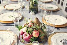 Tablescapes and Place Settings / Beautiful ways to create a place setting or table scape. Create a welcoming table.