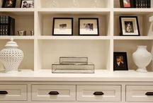 Decorate | Custom Cabinetry / I love custom cabinetry and all the details, storage and luxury it brings to a room.